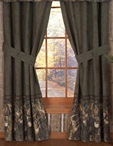 browning whitetails rod pocket curtains 42 x 84