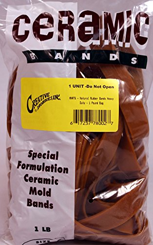 Creative Hobbies Ceramic Mold Rubber Bands, Special Heavy Duty Formulation, 1 Pound Bag - Assorted - Mold Ceramic Pottery