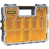 DeWalt DWST14825 10-Compartment Deep Pro Part/Tool Organizer with Metal Latch, Black/Clear/Black