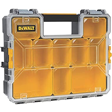 DeWalt DWST14825 10-Compartment Deep Pro Part/Tool Organizer with Metal Latch