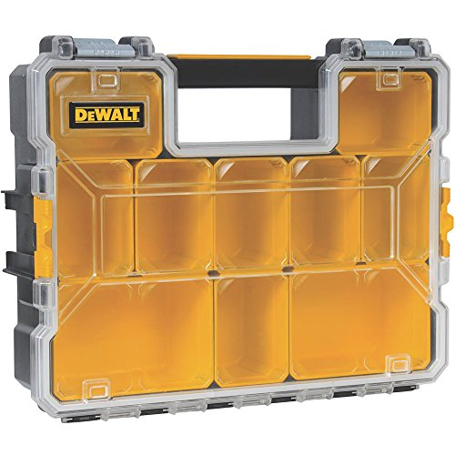 (DeWalt DWST14825 10-Compartment Deep Pro Part/Tool Organizer with Metal Latch)
