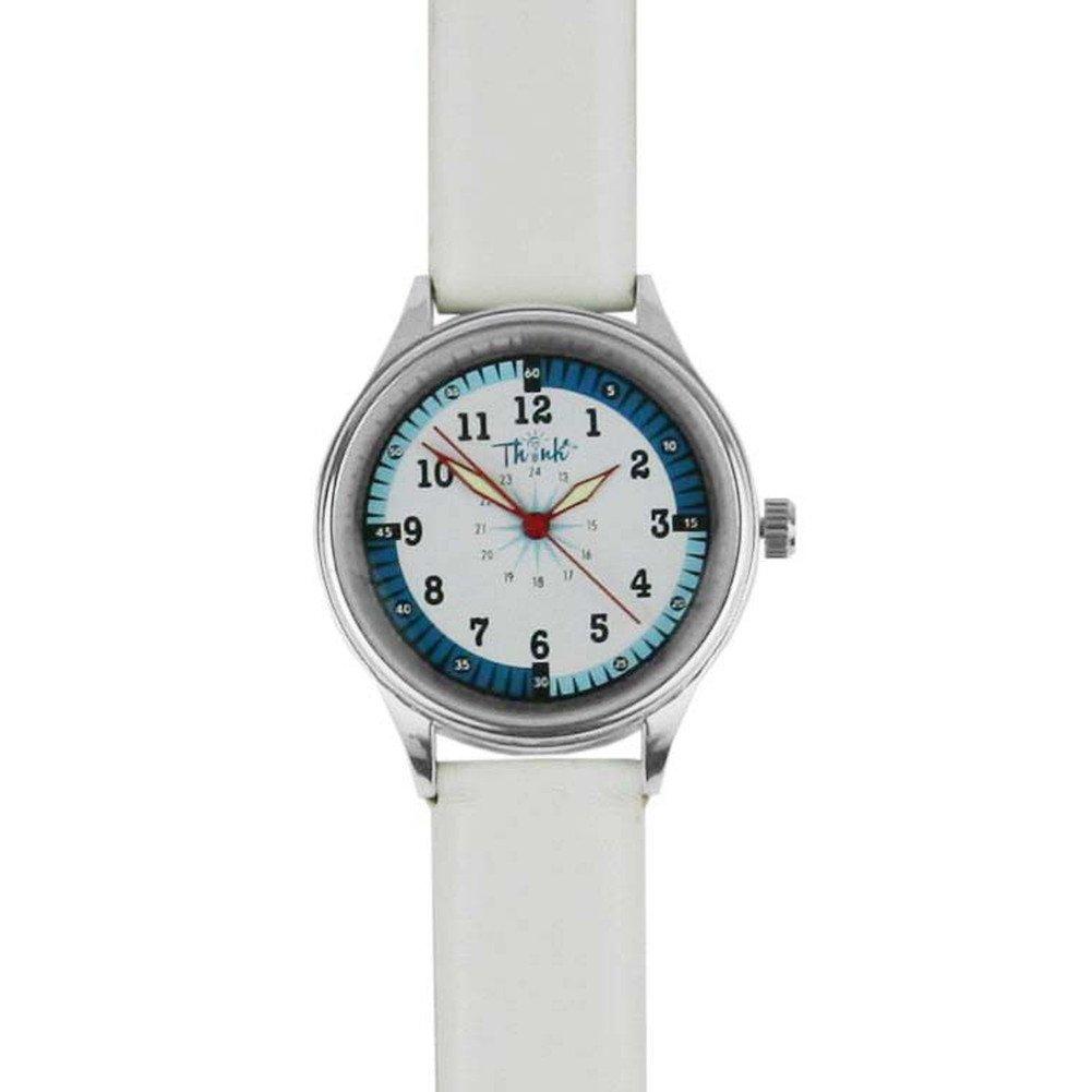 Think Medical Leather Midsize Nurse Watch (White)