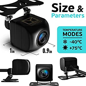 Yanees Backup Camera Night Vision - HD 1080p - Car Rear View Parking Camera - Best 170° Wide Angel Reverse Auto Back Up Car Camera Fits All Vehicles (Tamaño: Premium)