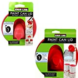 #8: 1 Shur-Line Quart and 1 Shur-Line Gallon Store and Pour Paint Can Lids