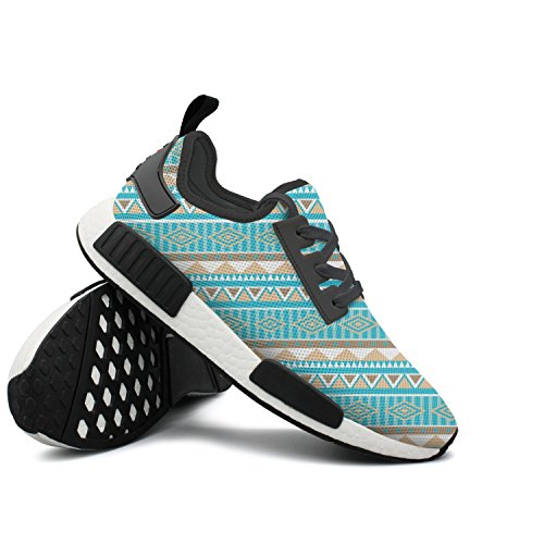 Price comparison product image CVOIREWKLL Aztec Tribal Print Wear-resistant Classic Stylish Print Skateboarding Shoes