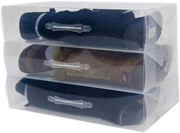 XZDXR Caja De Almacenamiento, 4 X Unidades Transparentes Apilables De Alta Resistencia para La Caja De Zapatos para Botas Altas hasta La Rodilla/Botines: Amazon.es: Hogar