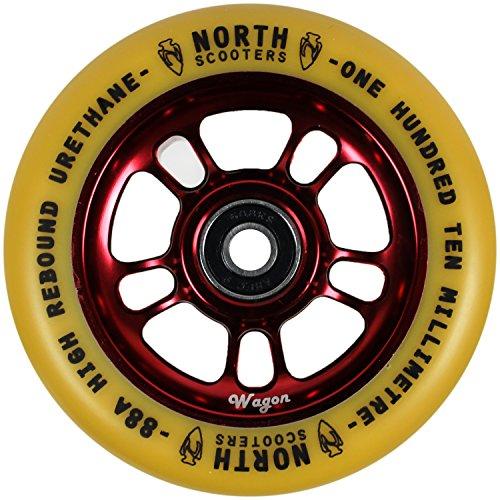 北スクーターWagon Gum 88 Aスクーターホイールワインレッド110 mmシングルホイール
