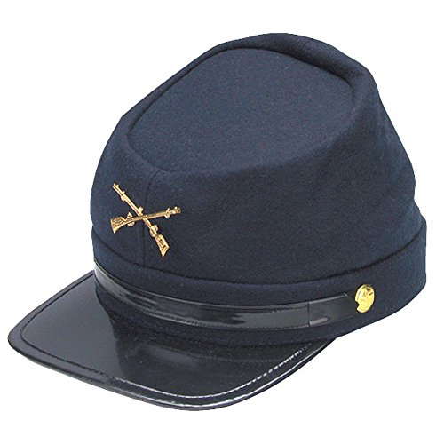 Civil War Kepi Union Army Wool Hat Blue Lined US North (Hats size 57 cm) -