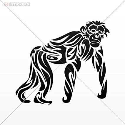Amazon Com Decal Sticker Tribal Monkey Tattoo Design Wall Art Decor