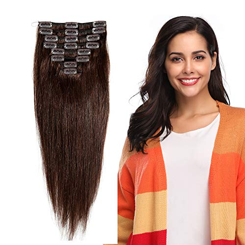 Clip in 100% Remy Human Hair Extensions 16