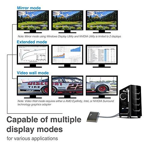 Muti Monitor Splitter 1x3 SIIG 3 Port DisplayPort to HDMI MST Hub 4k