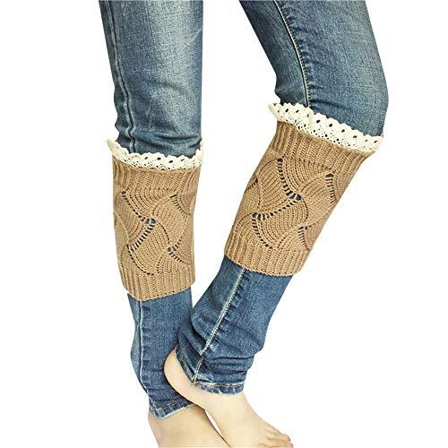 Beautyfine Women Winter Short Leg Warmer Thick Crochet Casual Socks Warm Knitted Boot Cuff Sock -