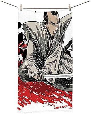 Amazon.com: YOLIYANA Japanese Soft Printed Towel,Warrior ...