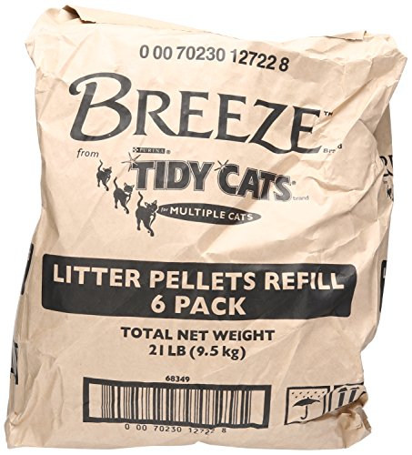Tidy Cats Cat Litter Breeze Litter Pellet Refill 3.5-Pound Refill Pack of 6