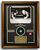 The Color of Money. Billiard Movie Memorabilia. Game Room Decor (Photo, Plate, Real Pool Ball). Professionally Framed in the Custom Made Shadow Box Real Wood Walnut Frame (17.25 x 21.25)