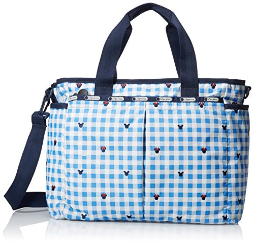 LeSportsac Women's Ryan Baby Diaper Bag Carry on, Checks and Bows