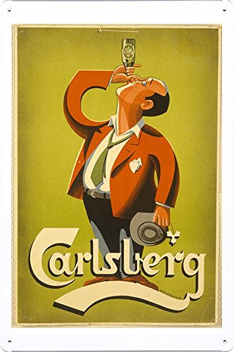 tin-sign-metal-poster-plate-8x12-of-carlsberg-beer-man-1952-by-food-beverage-decor-sign