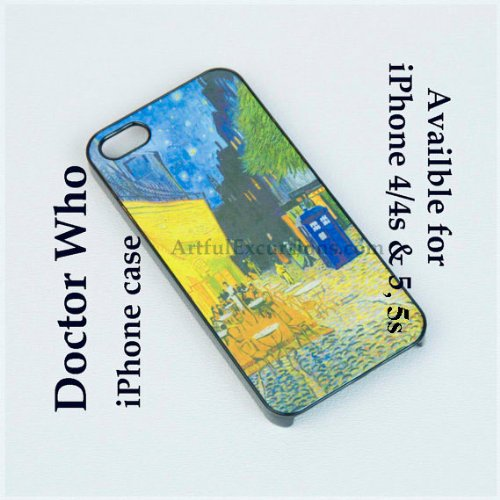 Doctor Who Iphone Case for iphone 5 or 5s, Tardis in Van Gogh's ...