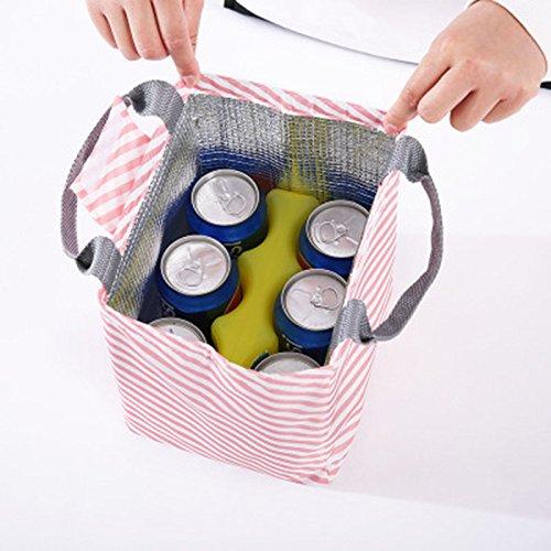 Dosige Portable Lunch-Tasche Lunch-Paket mit Klettverschluss Mittagessen Tasche Thermotasche K/ühltasche Isoliertasche Picknicktasche f/ür Camping und Picknick Oxford-Tuch Gr/ün 20x17x22.5 cm