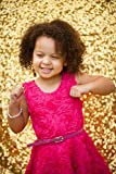 3FTX6FT-Sequin Backdrop Photo Booth Curtain Blue Sequin Fabric Wedding/Birthday Christmas Decorations (Gold)
