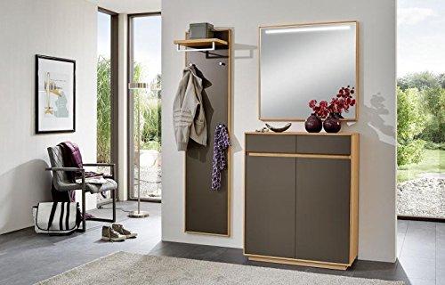 Voss-Möbel Dielenprogramm V100 Set 11, ca. 140cm in der Farbe Lack basalt