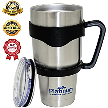 Amazon Premium Double Stainless Steel Tumbler with Handle