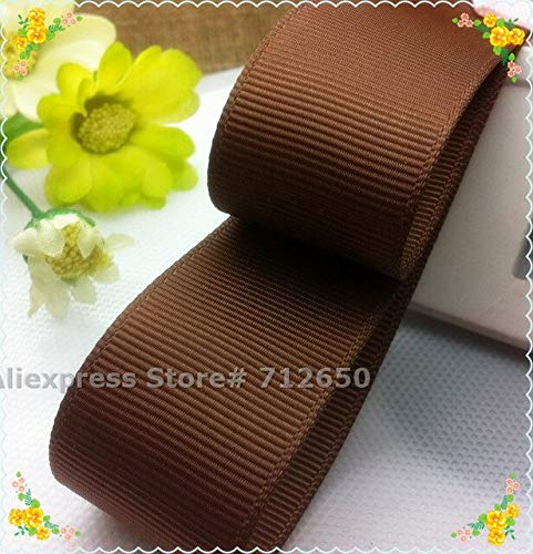 Jammas 1'' (25mm) Solid Grosgrain Ribbon Double face Tape Hairbow Garment Bag Shoe Accessory Gift wrap Bakery Pack Material 10 Yards - (Color: turftan)