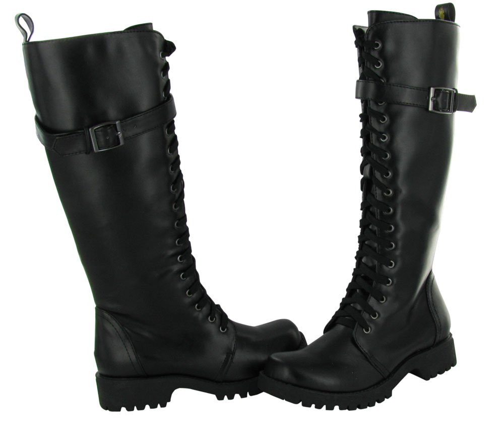 Volatile Women's Boot Camp Combat Boot B00BGVV57E 9 B(M) US| Midnight Black