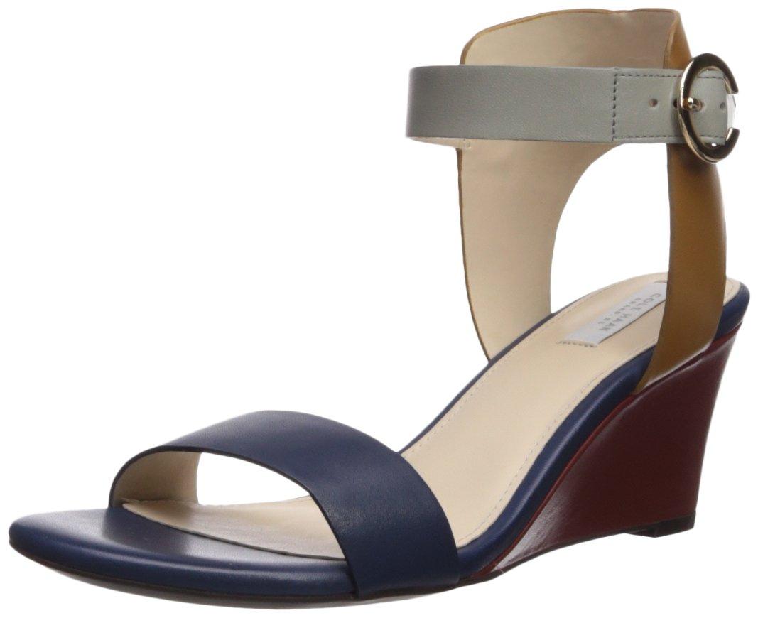 Cole Haan Women's Blakely Wedge Sandal B0745BYF9X 8 B(M) US|Marine Blue/Rock Ridge Leather