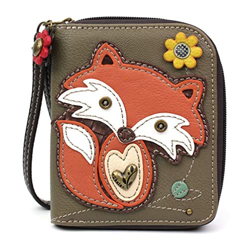 CHALA Pal Zipper Wallet Collection (Fox Olive) by CHALA