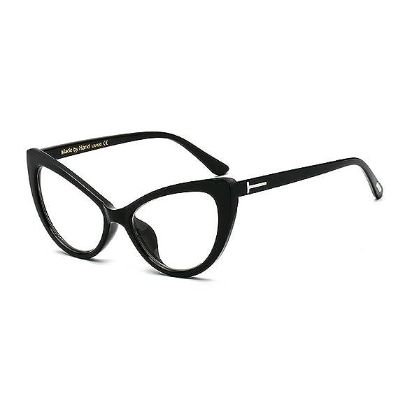 Amazon.com: Womens Sunglasses T Rivet Cat Eyes Big for Women PC Frame Clear Lens Sunglasses Rimmed Ladys Classic Retro Sunglasses Personality Driving UV ...