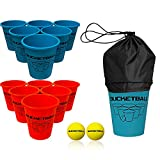 6. Bucket Ball - Beach Edition Starter Pack - Ultimate Beach, Pool, Yard, Camping, Tailgate, BBQ, Lawn, Water, Indoor, Outdoor Game - Best Gift Toy for Adults, Boys, Girls, Teens, Family