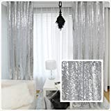 New Year 80% off Sequin Silver curtains, Select you size, 20FT10FT Sparkly Silver Sequin Fabric Photography Backdrop, Best Wedding/Home/Party Fashion Decoration