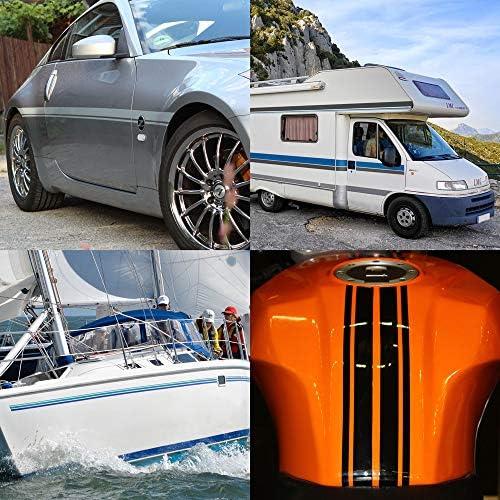 Autocollant Film Voiture Bateau Moto Camping-Car Caravane RAL 9005 50 mm Largeur 10 m Longueur Noir Mat Motoking Bandes D/écoratives