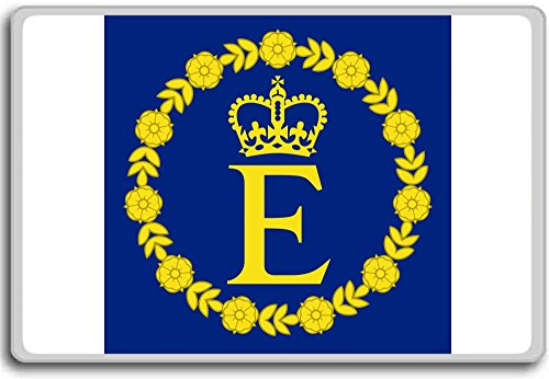 Personal Flag Of Queen Elizabeth Ii - Head of state standard fridge magnet (Queen Elizabeth Photo)