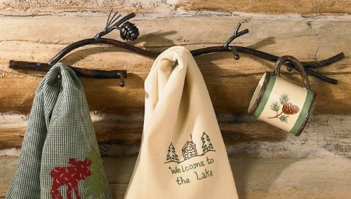 Park Designs Pine Lodge Pinecone 5 Arm Wall Hook