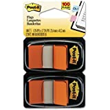 Post-it Flags, 1 Inch, Orange, 50 per Dispenser, Two Dispensers per Pack (Sold as 2 packs)