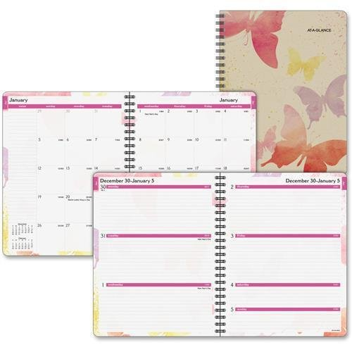 (791905G Day Runner Vibrant Watercolors Planner - Weekly, Monthly - 8.50