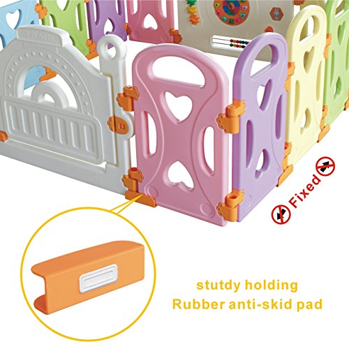 Baby Playpen Kids Activity Centre Safety Play Yard Home Indoor Outdoor With 14 Panels New Pen (14panels, Castle) by Gupamiga (Image #4)