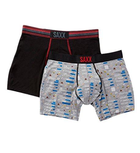 - Saxx Underwear Men's Vibe Boxer Brief 2-Pack Text Bubble XX-Large