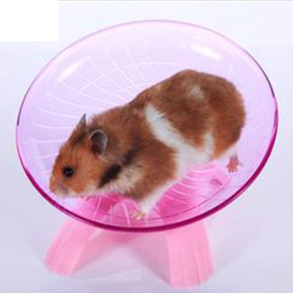 Lumpna Hamster Wheel Flying Saucer Wheel Animals Hamster Exercise Toy Hamster Toys 18cm Diameter Hamster Flying Saucer Blue