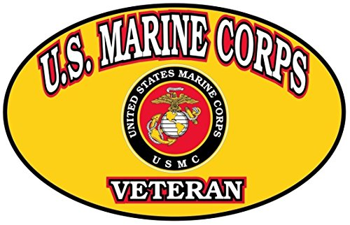 1-Pc Worthy Popular USMC Marine Corps Veteran Stickers Signs Car Decal Wall Military Size 4.5