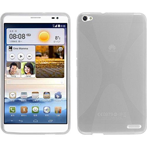 PhoneNatic Huawei MediaPad X1 Hülle Silikon clear X-Style Case MediaPad X1 Tasche + 2 Schutzfolien