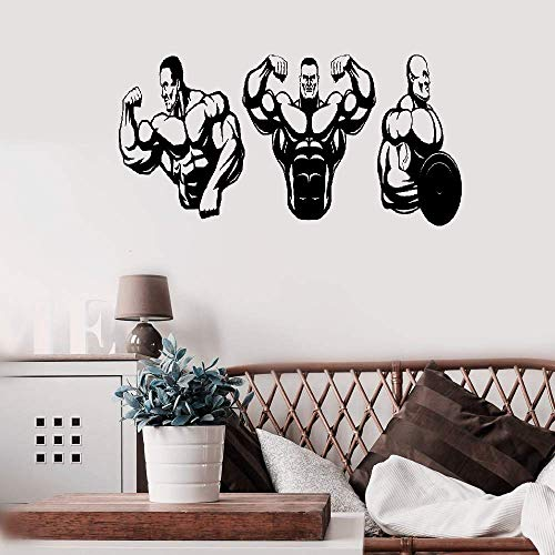 Aweyu Room Wall Stickers Quotes Wall Decals Art Muscle Bodybuilding Gym Fitness