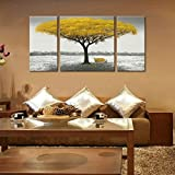 Winpeak Hand Painted Yellow Tree Modern Oil