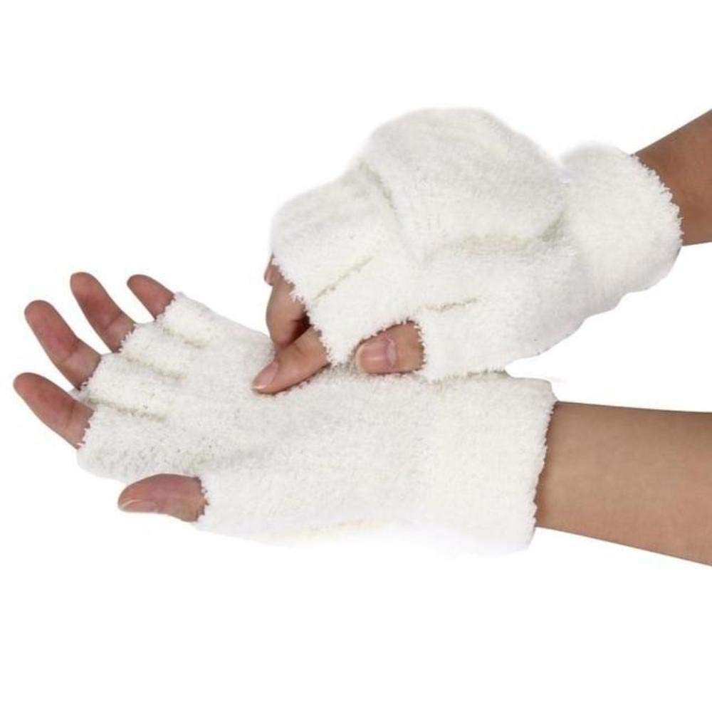 Trendy Fashion Winter Knitted Faux Fur Gloves