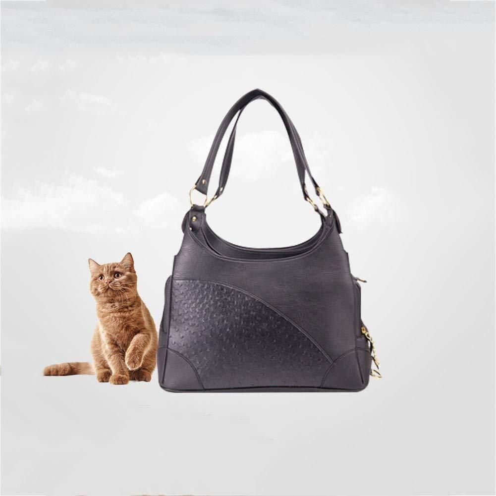 ETH Pet Shoulder Bag Pu Leather Pet Bag Four Seasons Car Pet Bag for Pets Within 7 Kg Pet Bag 40 20 25 Pleasure by ETH