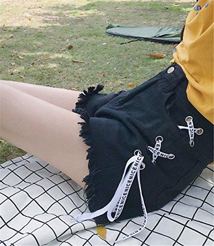 Vaqueros Pantalones para mujer Negro Cut Boot JOTHIN g5dqg