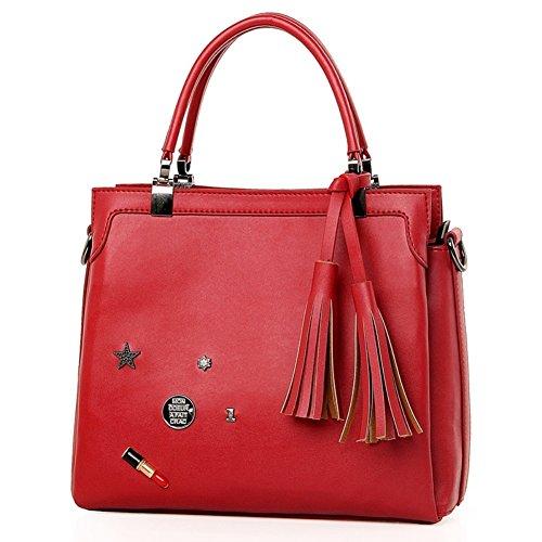 JOYSKY HB440172C2 PU Leather Korean Style Women's Handbag,Square Cross-Section Motorcycle Bag