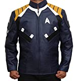 Captain Krik Star Trek Mens Jacket (L, Blue)